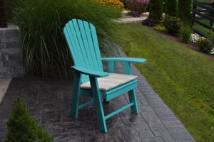 A&L Furniture Amish-Made Poly Upright Adirondack Chair, Aruba Blue