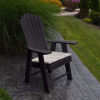 A&L Furniture Amish-Made Poly Upright Adirondack Chair, Black