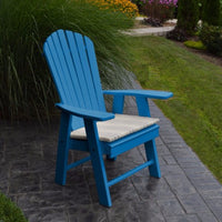 A&L Furniture Amish-Made Poly Upright Adirondack Chair, Blue
