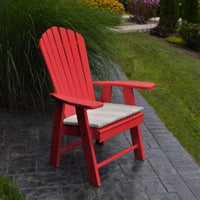A&L Furniture Amish-Made Poly Upright Adirondack Chair, Bright Red