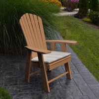 A&L Furniture Amish-Made Poly Upright Adirondack Chair, Cedar