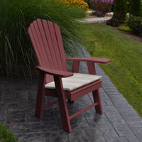 A&L Furniture Amish-Made Poly Upright Adirondack Chair, Cherrywood