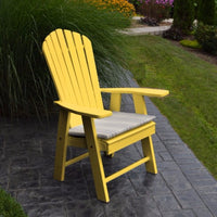A&L Furniture Amish-Made Poly Upright Adirondack Chair, Lemon Yellow