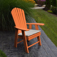 A&L Furniture Amish-Made Poly Upright Adirondack Chair, Orange