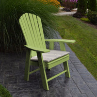 A&L Furniture Amish-Made Poly Upright Adirondack Chair, Tropical Lime