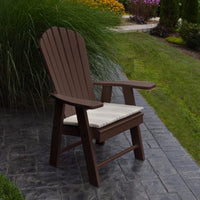 A&L Furniture Amish-Made Poly Upright Adirondack Chair, Tudor Brown