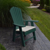 A&L Furniture Amish-Made Poly Upright Adirondack Chair, Turf Green