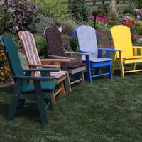 A&L Furniture Amish-Made Poly Upright Adirondack Chairs