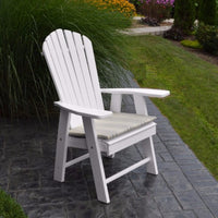 A&L Furniture Amish-Made Poly Upright Adirondack Chair, White