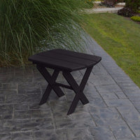 A&L Furniture Co. Amish-Made Folding Poly End Table, Black