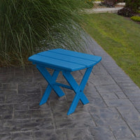 A&L Furniture Co. Amish-Made Folding Poly End Table, Blue