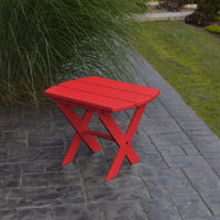 A&L Furniture Co. Amish-Made Folding Poly End Table, Bright Red