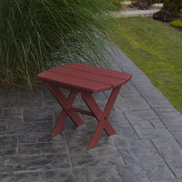 A&L Furniture Co. Amish-Made Folding Poly End Table, Cherrywood