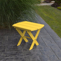 A&L Furniture Co. Amish-Made Folding Poly End Table, Lemon Yellow