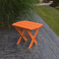 A&L Furniture Co. Amish-Made Folding Poly End Table, Orange