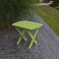 A&L Furniture Co. Amish-Made Folding Poly End Table, Tropical Lime