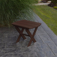 A&L Furniture Co. Amish-Made Folding Poly End Table, Tudor Brown