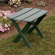 A&L Furniture Co. Amish-Made Folding Poly End Table, Turf Green