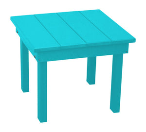 A&L Furniture Amish-Made Poly Hampton End Table, Aruba Blue