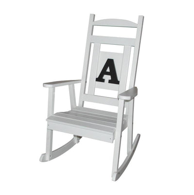 A&L Furniture Co. Monogrammed Poly Classic Rocker