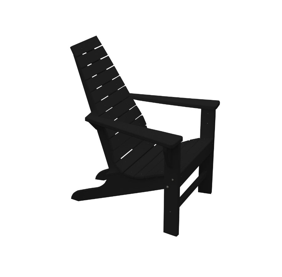 A&L Furniture Amish-Made Poly New Hope Chair, Black
