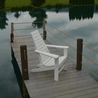 Side View of A&L Furniture Amish-Made Poly New Hope Chair