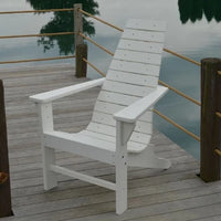 A&L Furniture Amish-Made Poly New Hope Chair, White
