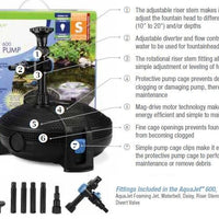 Features of Aquascape® AquaForce® Pumps