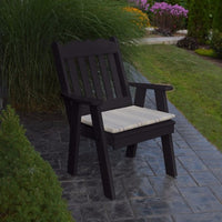 A&L Furniture Amish-Made Poly Royal English Chair, Black