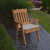 A&L Furniture Amish-Made Poly Royal English Chair, Cedar