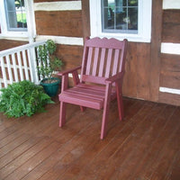 A&L Furniture Amish-Made Poly Royal English Chair, Cherrywood