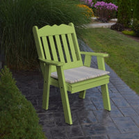 A&L Furniture Amish-Made Poly Royal English Chair, Tropical Lime