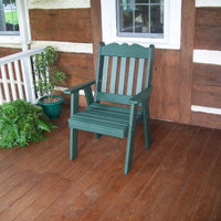 A&L Furniture Amish-Made Poly Royal English Chair, Turf Green