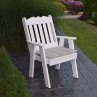 A&L Furniture Amish-Made Poly Royal English Chair, White