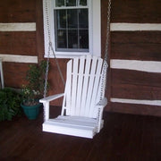 A&L Furniture Co. Amish-Made Poly Adirondack Chair Swing, White