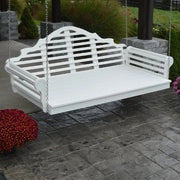 A&L Furniture Amish-Made Poly Marlboro Swing Bed, White