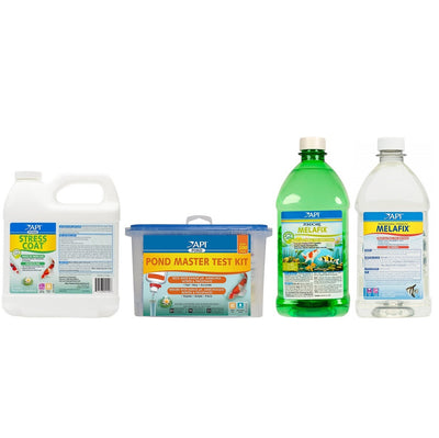 API® Fish Pond Spring Start Up Bundle: Master Test Kit, MelaFix, PimaFix & Stress Coat