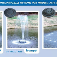 Nozzles included with Practical Garden Ponds Choice Decorative Floating Fountains
