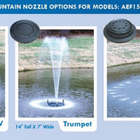 Nozzles included with the Anjon Manufacturing Floating EcoFountain