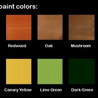 Color options for A&L Furniture Co. Amish-Made Pine Traditional Picnic Tables