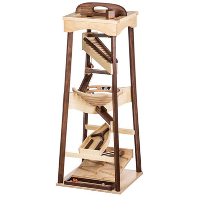 Amish Handmade Marble Roller Tower Toy
