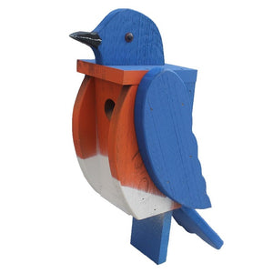 Beaver Dam Woodworks Amish-Made Deluxe Bluebird-Shaped Birdhouse