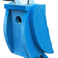 Beaver Dam Woodworks Amish-Made Deluxe Bluejay-Shaped Birdhouse