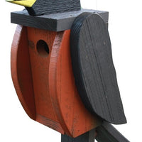 Beaver Dam Woodworks Amish-Made Deluxe Robin-Shaped Birdhouse