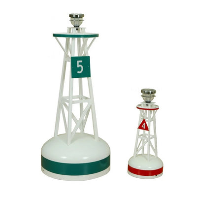 Amish-Made Fiberglass and Vinyl Buoy Lawn Ornaments