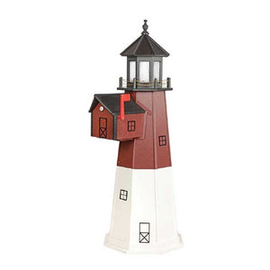 Amish-Made Poly Barnegat, NJ Replica Lighthouse with Mailbox