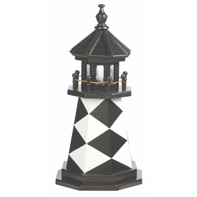2' Octagonal Amish-Made Wooden Cape Lookout, NC Replica Lighthouse