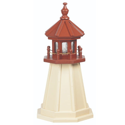 2' Octagonal Amish-Made Wooden Cape May, NJ Replica Lighthouse