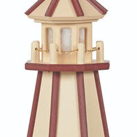 Amish-Made Hybrid (Wood and Poly) Painted Lighthouses