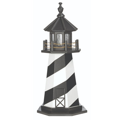 3' Octagonal Amish-Made Hybrid Cape Hatteras, NC Replica Lighthouse